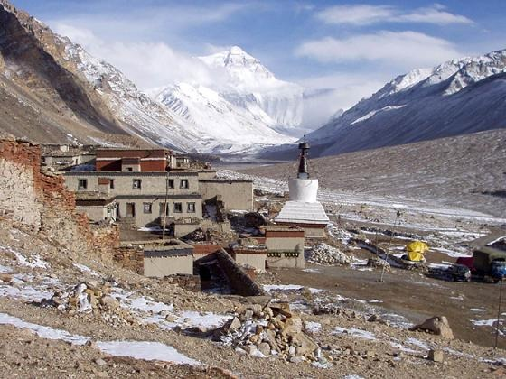 Mt, Everest is just 20 KM from  Rongbuk Monastery