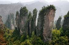 Beautiful Mountains in the Zhangjiajie National Park