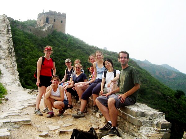 Hiking on wild Great Wall