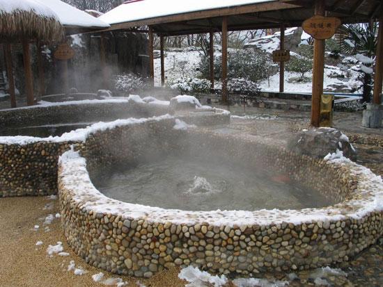 Hot spring Huangshan