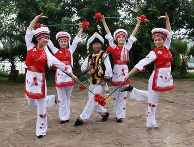 Bai Ethnic Rattle-stick Dance