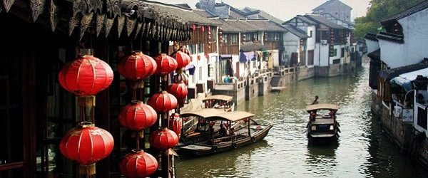 Zhujiajiao Water Town and Huangpu River Cruise Tour