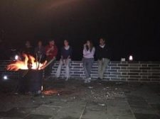 Bonfire on the great wall