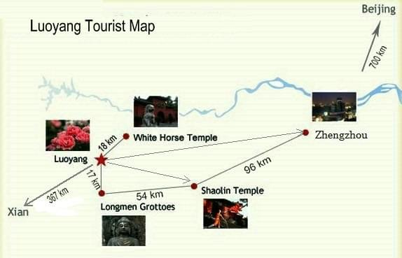 Luoyang tour map