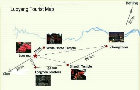Luoyang tour map