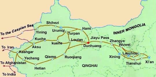 China Silk Road Map