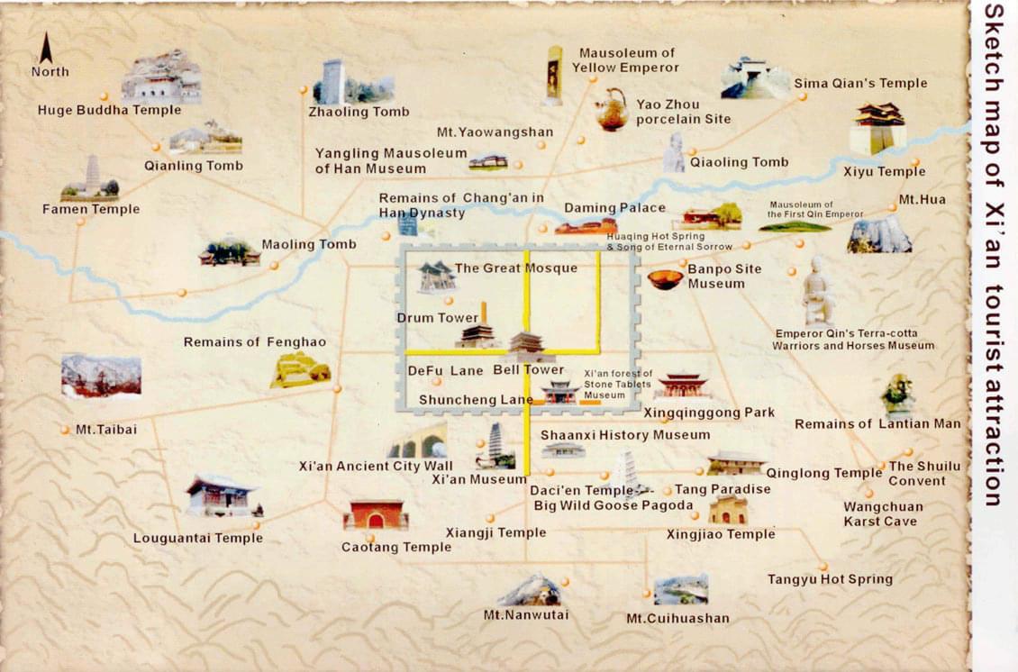 Xian Tourism Map