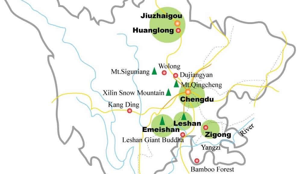 sichuan tourism map