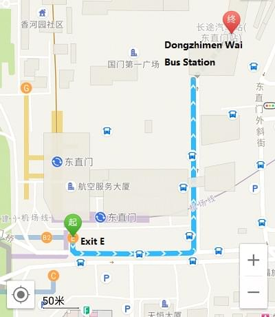 how to get to dongzhimen wai bus station